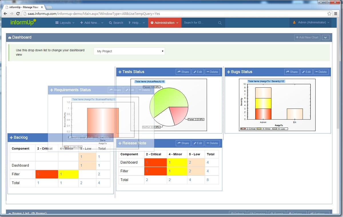 bug tracking system of informup bugup tracker software
