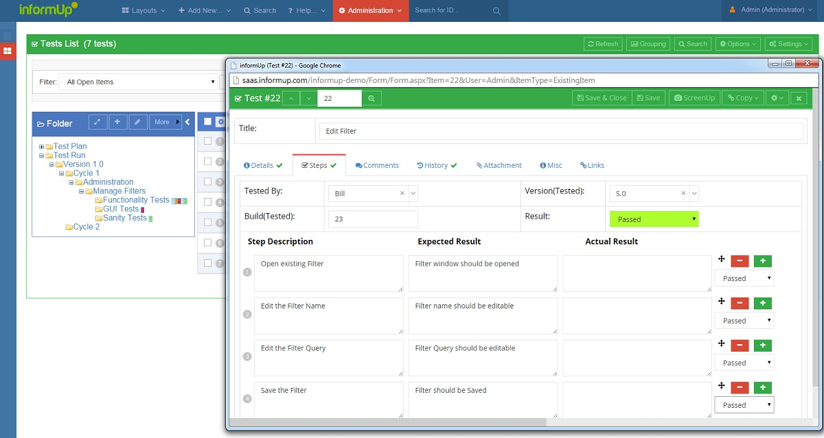 Software testing and qa tools articles informup for Applicant tracking system test