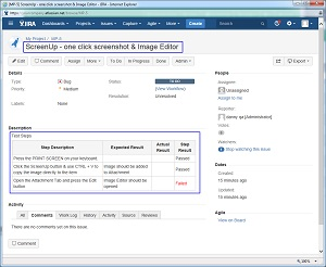Steps description is converted automatically into JIRA Bug