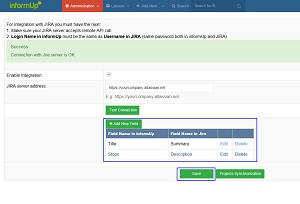 Test Case Management - matching fields with jira